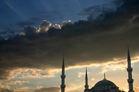 Sky Above the Blue Mosque