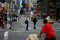 View Down Broadway Toward Times Square