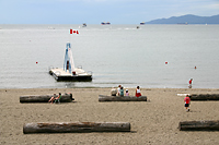 On Vancouver's English Bay Beach