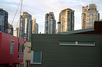 Granville Island houses, Yaletown towers