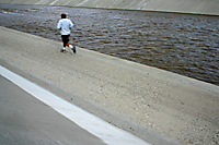 Runner Along Santa Ana River