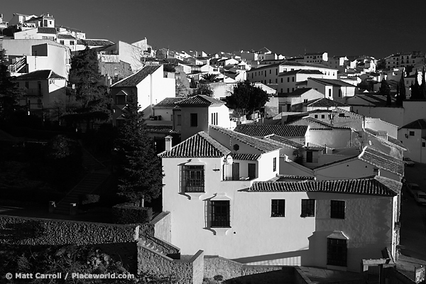 black and white townscape